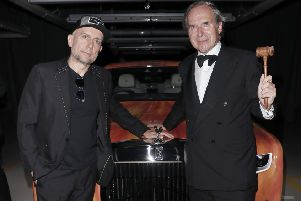 CHICHESTER, ENGLAND - SEPTEMBER 21: Marc Quinn and Simon de Pury attend the Rolls-Royce 'Dine on the Line' event, in aid of allergy research by Evelina London Children's Hospital, on September 21, 2019 in Chichester, England. (Photo by David M. Benett/Dave Benett/Getty Images for Rolls-Royce) SUS-190923-110806001