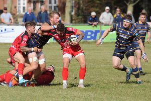 Action from Worthing Raiders v Redruth