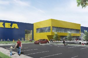 An artist's impression of the IKEA store