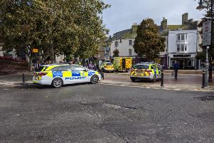 The incident in Worthing town centre
