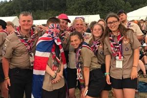 The scouts at the jamboree event