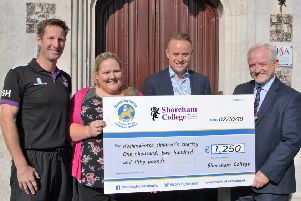 Shoreham College Cheque Presentation