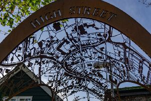 The new Steyning gateway has an innovative design, featuring a metal map of the town centre