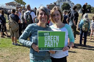 Leslie Groves and Jo Paul, Green Party candidates in Worthing and Shoreham