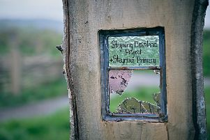 Smashed panes at the Steyning Downland Scheme SUS-190511-153023001