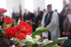 Sunday  November 17 marked the annual service of Remembrance on Rathlin