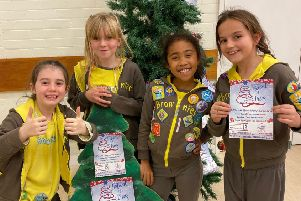 Children from 2nd Southwick Brownies are hoping to take the Best Dressed Christmas Tree title for a third year, when they exhibit at the Turning Tides Festival of Trees at St Mary's Church in Shoreham.