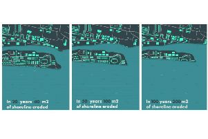 mages showing the predicted levels of coastal erosion in Shoreham over the next 100 years. Image: Confused.com