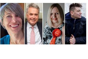 The candidates: Leslie Groves Williams (Green), Tim Loughton (Conservative), Lavinia O'Connor (Labour), Ashley Ridley (Lib Dem)