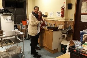 Volunteers at the night shelter