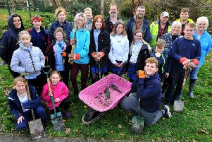 Shoreham Academy students spent the day planting trees