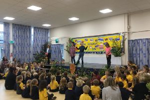 The Enormous Turnip was performed by children in years three and four as part of their harvest festival celebrations