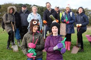 Tree planting at the Adur Recreation Ground