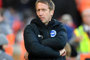 Brighton and Hove Albion manager Graham Potter is pleased to see Aaron Mooy enjoying his football once more