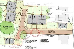 Proposed site layout for ten new Southwick homes refused by Adur District Council