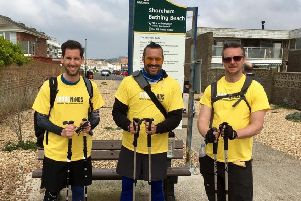 Last year's Walk and Talk reaches Shoreham, from left, John Gooden, Steve McKeown and Phil Burman