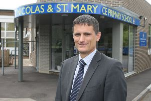 DM1507990a.jpg David Etherton, Headteacher, St Nicolas and St MaryCE Primary School, Shoreham. WSCC has announced plans to expand several schools including St Nicolas and St Mary CE Primary School. Photo by Derek Martin SUS-150615-201603008