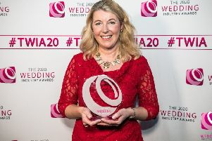 Jane Blackman has been crowned national celebrant of the year. Picture: The Wedding Industry Awards