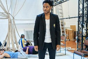Ammar Duffus (Conor) in rehearsals for the A Monster Calls UK Tour, Photo credit Manuel Harlan