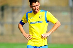 Lancing captain Lewis Finney bagged a hat-trick against East Preston on Saturday. Picture by Steve Robards
