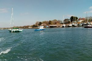 A wreck that is popular with artists at Dell Quay in Chichester Harbour