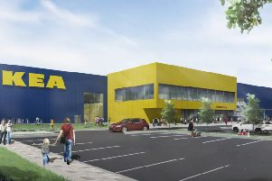 An artist's impression of how the new IKEA in Lancing could look SUS-181227-143346001