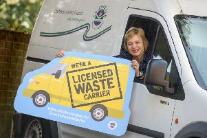 The council has been campaigning for people to use a Licensed Waste Carrier to remove their rubbish. Picture: Allan Hutchings