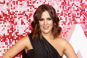 LONDON, ENGLAND - NOVEMBER 09: Caroline Flack arriving at the ITV Gala held at the London Palladium on November 9, 2017 in London, England. (Photo by Tristan Fewings/Getty Images)