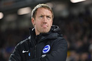 Brighton and Hove Albion head coach Graham Potter
