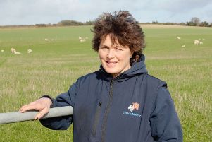 West Sussex NFU chairman Caroline Harriott runs a flock of 600 ewes and rears lambs near Arundel