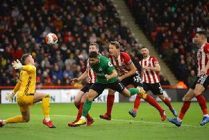Neal Maupay heads home for Brighton