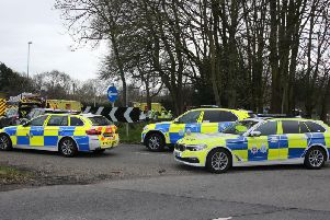 Three police cars were sent to the scene