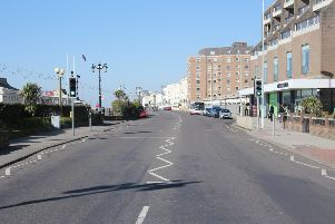 Worthing town centre at 9.30am today (March 25). Deserted, but bin collections and careful socialising continue.