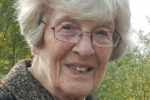 Hilda Moore, 95, of Sleaford suffered a massive internal brain haemorrhage after being hit by a wave from traffic driving through a flooded street. EMN-180105-094901001