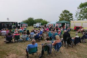 A section of the crowds at Anderby Rocks