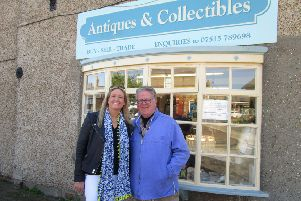 Louise Gostello and Philip Serrell in Burgh le Marsh for the Antiques Road Trip. Picture: Eileen Chantry.