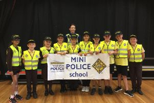 Newly-elected Mini Police at the Richmond School, Skegness. ANL-181023-150501001