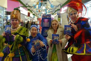Some of the cast of Cinderella including Buttons, Cinderella and the two ugly stepsisters. EMN-180312-164937001