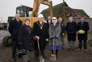 Starting work on the new clubhouse at Wainfleet Road Playing Fields 10 years ago.