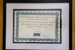The runner-up award certificate.