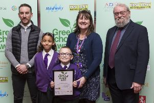 Baird Primary Academy picked up their certificate and trophy for Best Nature Conservation School