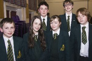 Students from Skegness Grammar School at John Spendluffe Technology College, Alford, 10 years ago.