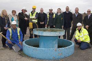 Work had officially begun to transform the Sunshine Pool into a new children's play area in North Parade, Skegness, 10 years ago. Pictured (from left) were Bethany York, mayoress Rita Pimperton, Mayor Coun Neil Pimperton, Ed Morton, Graham Pell, Darren Chardoux, Rebecca Cram, town clerk Tony Cumberworth, Paul Johnson, Coun Phil Kemp; kneeling, left, Paul Tuplin and Mick Gabbitus.