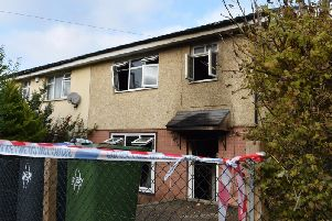 The scene of the fire of Wentworth Road.