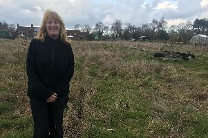Lorraine Heron, secretary of Spilsby Town Council Allotments, where the community garden will be.