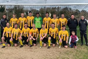 Dromore Amateurs first team, managed by Graeme Davis