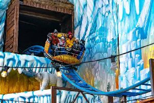 The new Ice Mountain roller coaster at Fantasy Island is now open.