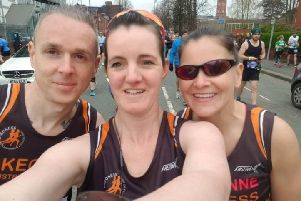 SADRC runners at the Manchester Marathon.