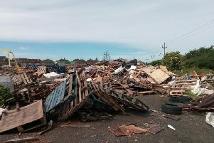 Bonfire site at Monrush in Cookstown