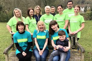 Some members of the team that will abseil for the Samaritans charity next week.